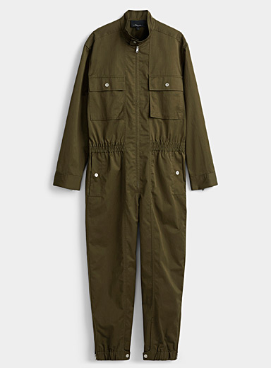 3.1 Phillip Lim Mossy Green Cotton twill workwear jumpsuit for men