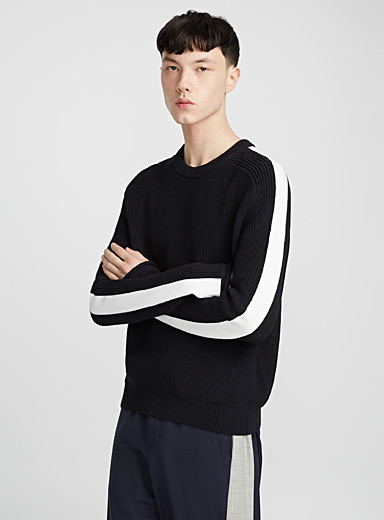 Athletic-stripe sweater