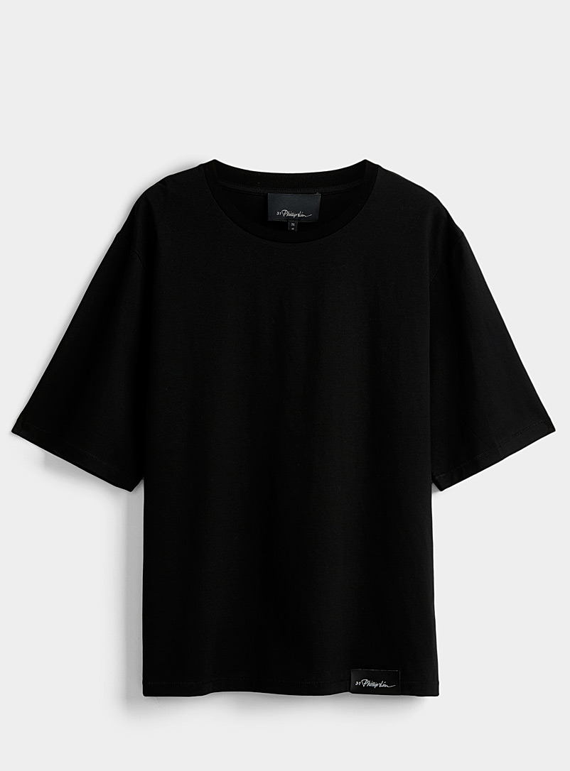 3.1 Phillip Lim Black Oversized T-shirt for men