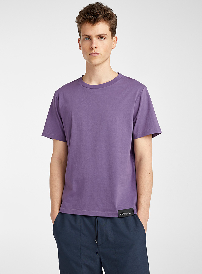 3.1 Phillip Lim: Le t-shirt Perfect Lilas pour homme