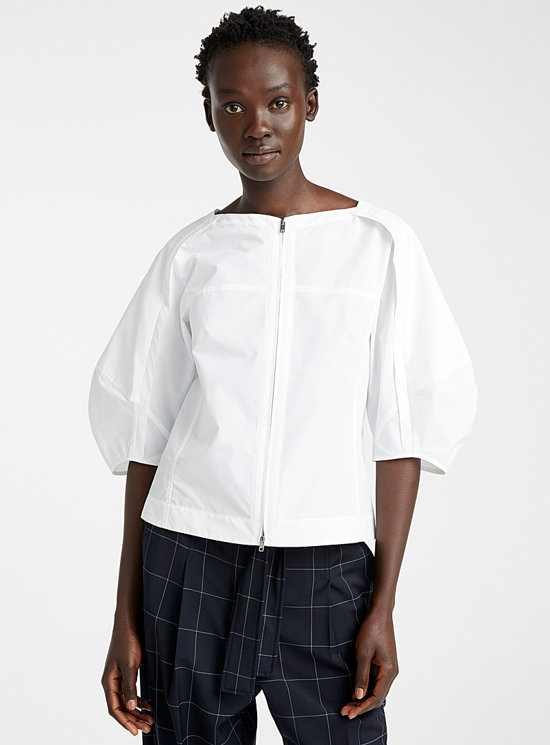 3.1 Phillip Lim White Balloon sleeve top for women