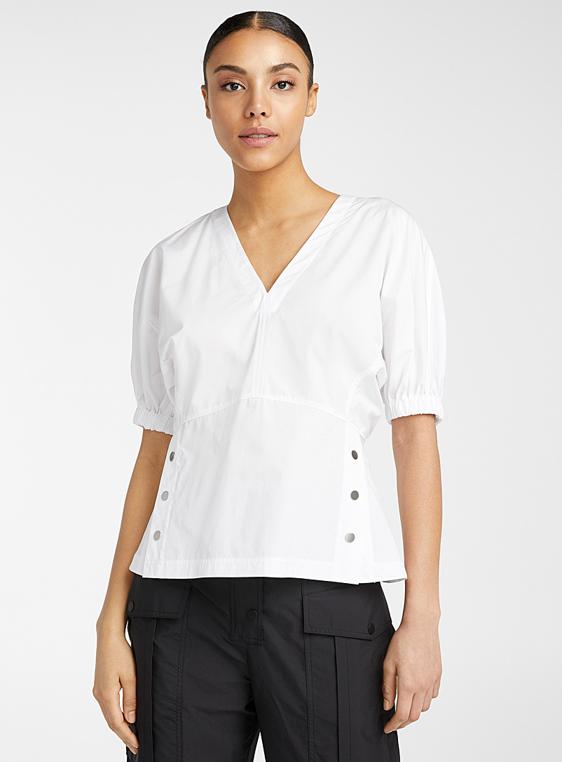 3.1 Phillip Lim White Side Studs top for women
