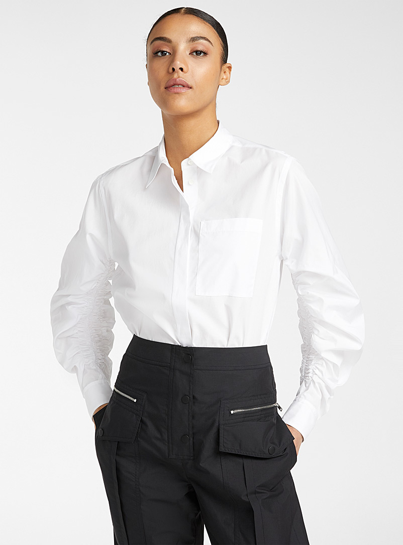 3.1 Phillip Lim White Gathered sleeves shirt for women