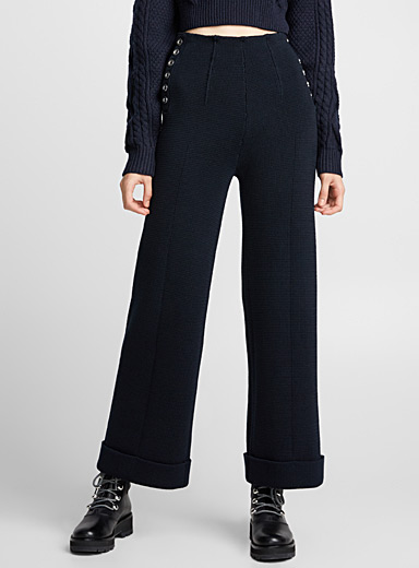 Knit sailor pant