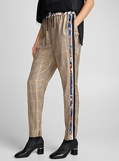 Floral check pant