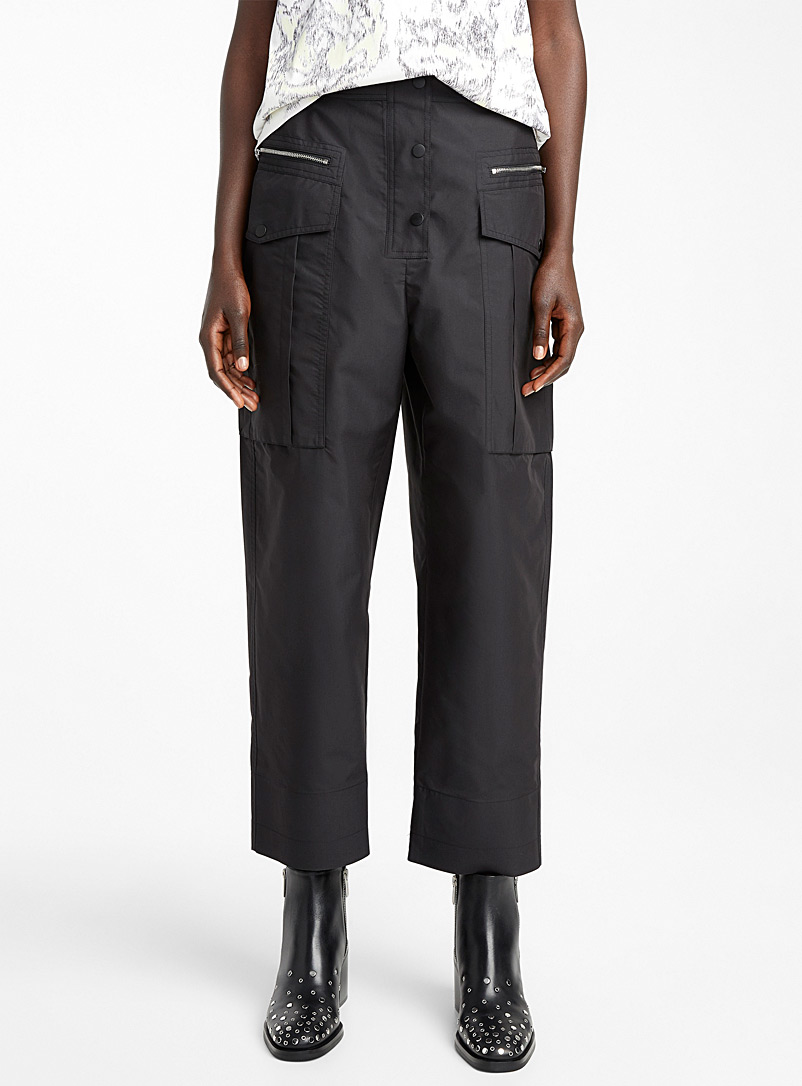 3.1 Phillip Lim Black Snap Cargo pant for women