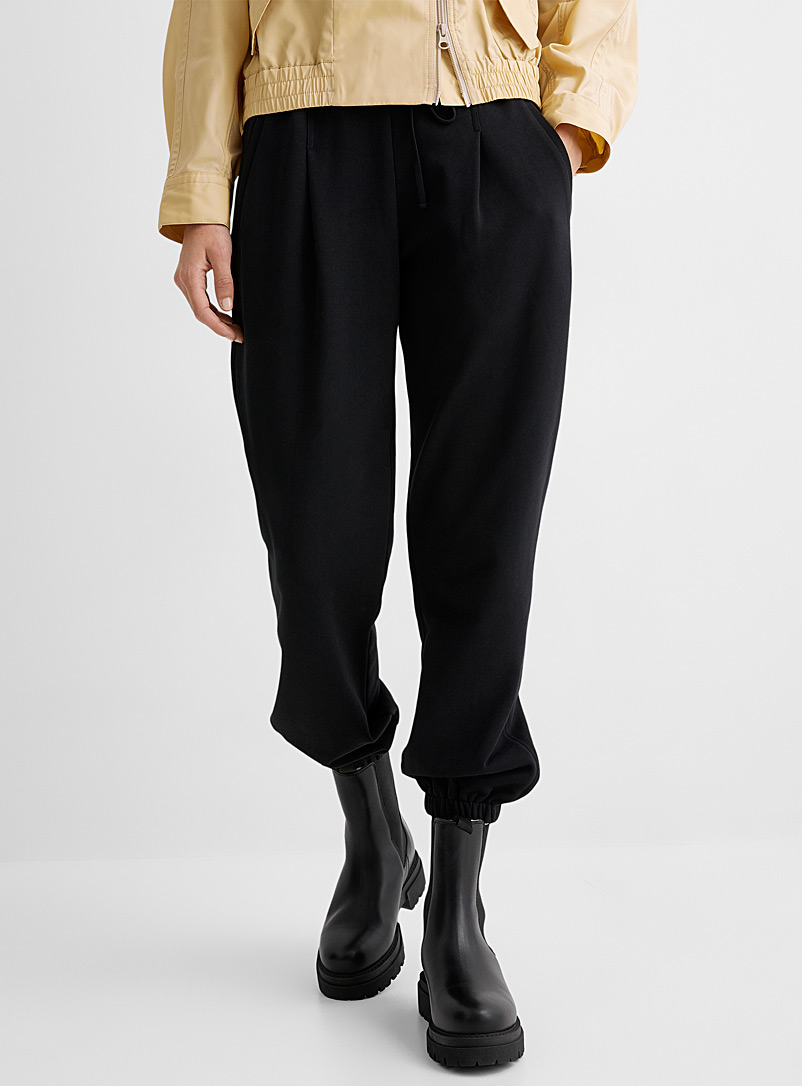 3.1 Phillip Lim Black Pleated joggers for women