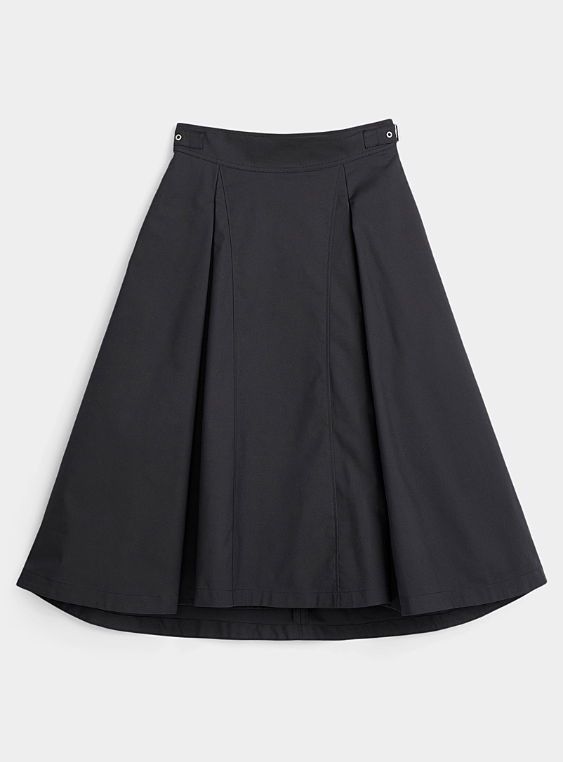 3.1 Phillip Lim Black Flared biker skirt for women
