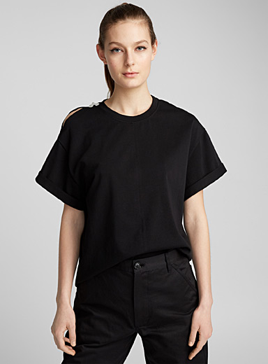 Shoulder Slit T-shirt