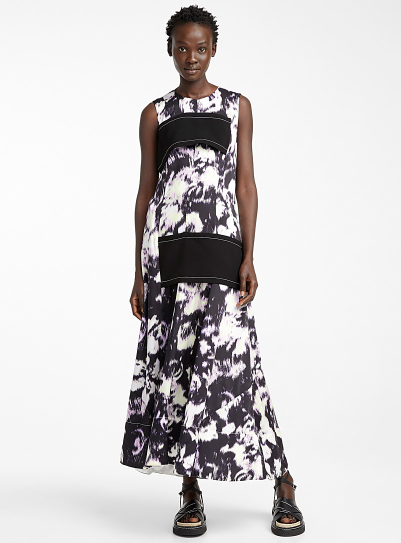 3.1 Phillip Lim Patterned Black Abstract Daisy dress for women