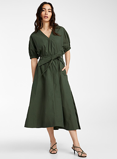3.1 Phillip Lim Mossy Green Utility dress for women