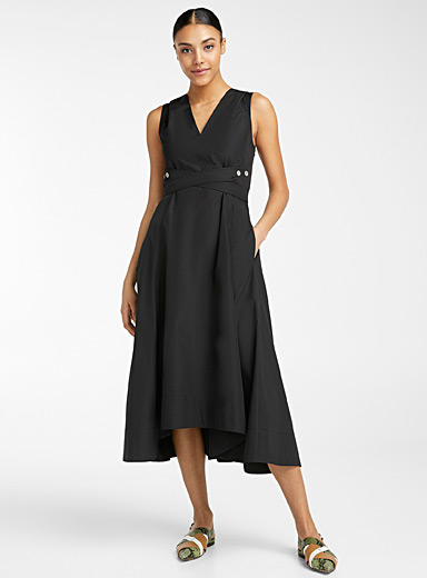 3.1 Phillip Lim Black Utility tie dress for women