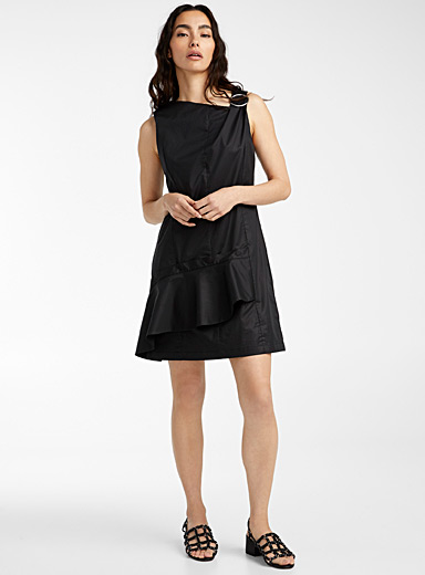 3.1 Phillip Lim Black Snap ruffle dress for women