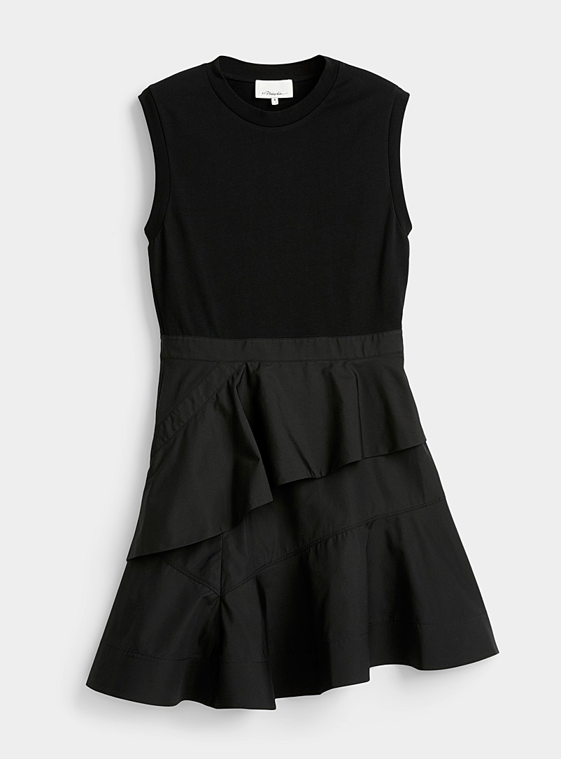 Tiered ruffle T-shirt dress