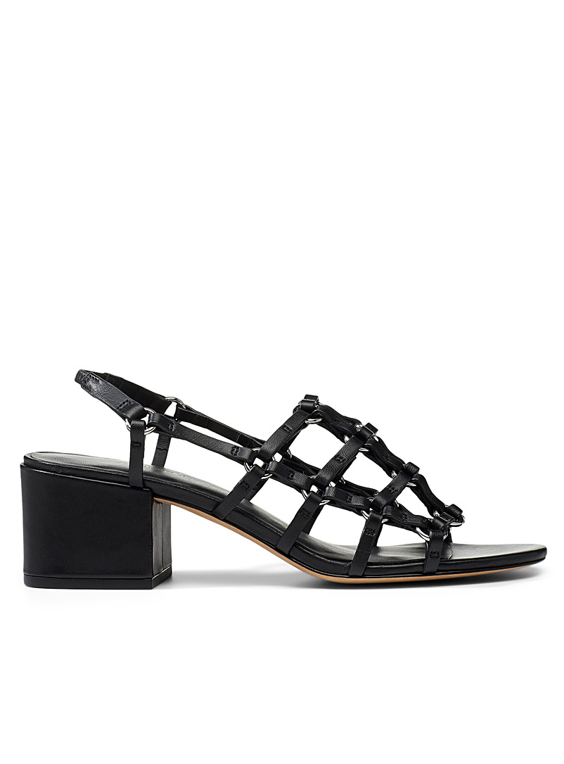 3.1 Phillip Lim Black Cube Cage sandals for women