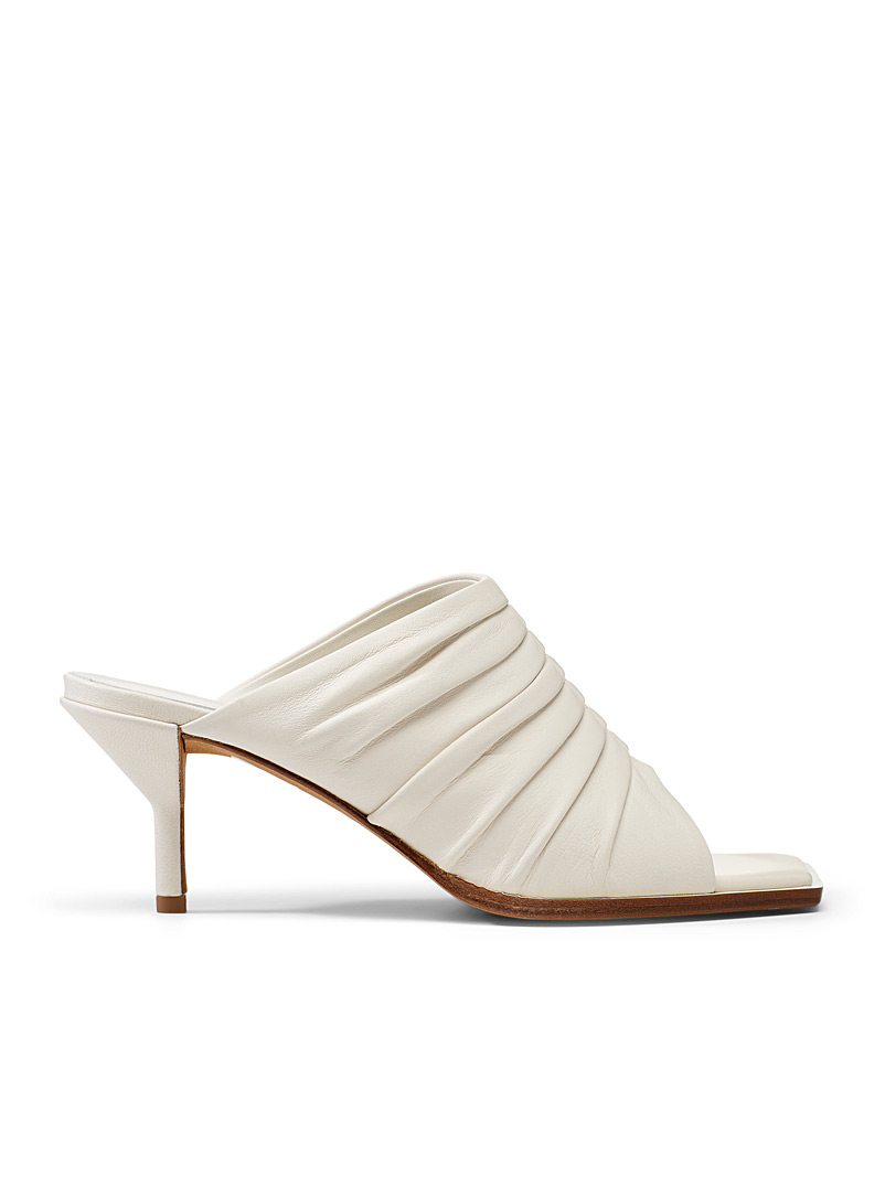 3.1 Phillip Lim Ivory White Ruched mule for women
