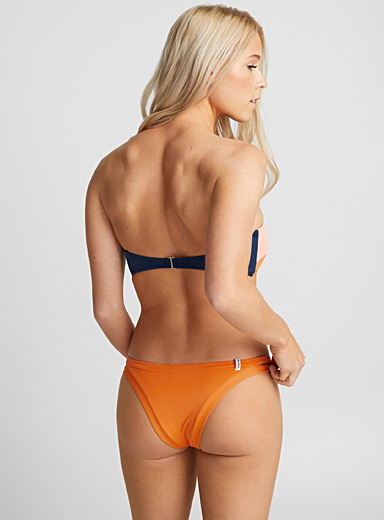 Itsy bright orange bottom