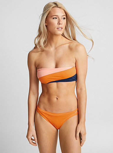 Colour block bandeau top