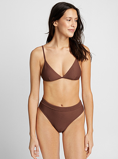 Mulberry ribbed bralette top