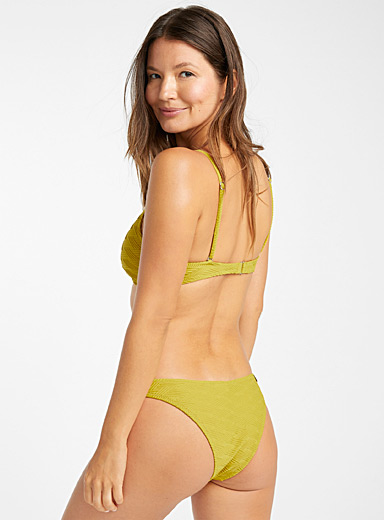 Yellow plantain jacquard braided bottom