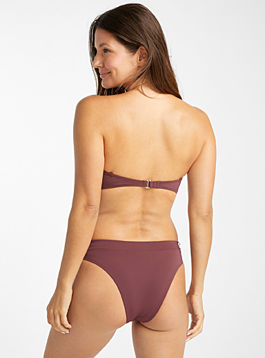 Burgundy high-waist bottom