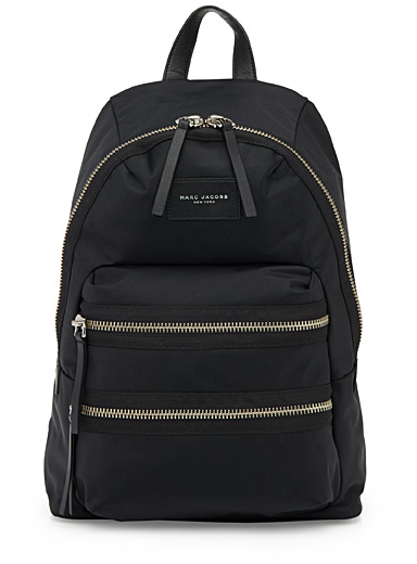 Shiny monochrome backpack