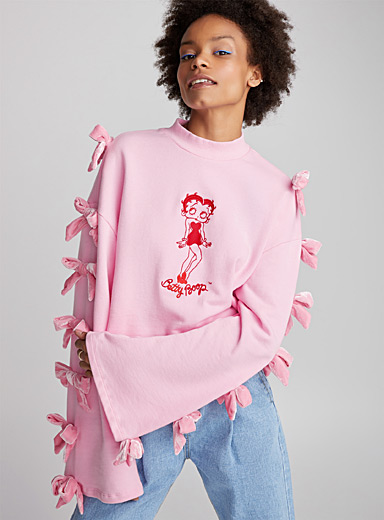 Le sweat Betty Boop boucles veloutées