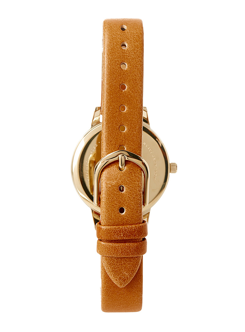 Satiny parchment watch - Watches - Fawn