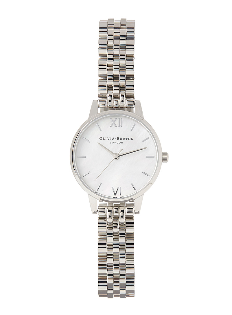 White Mop Dial watch - Watches - Charcoal