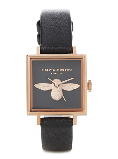 3D bee square watch