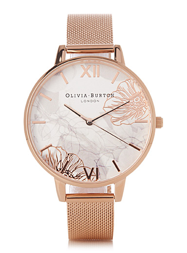 La montre Abstract Florals or rose