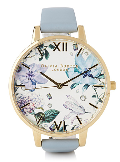 Pastel blue garden watch