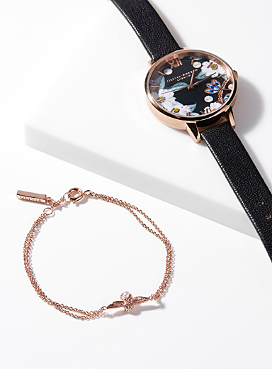 Bracelet and floral watch