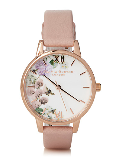 La montre Enchanted Garden rose