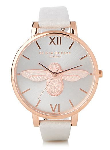 Rose gold bee watch