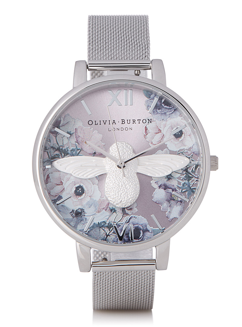 Watercolour Florals watch - Watches - Silver