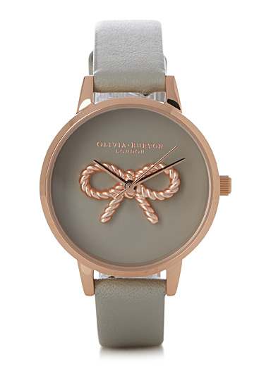 Rose gold bow vintage watch