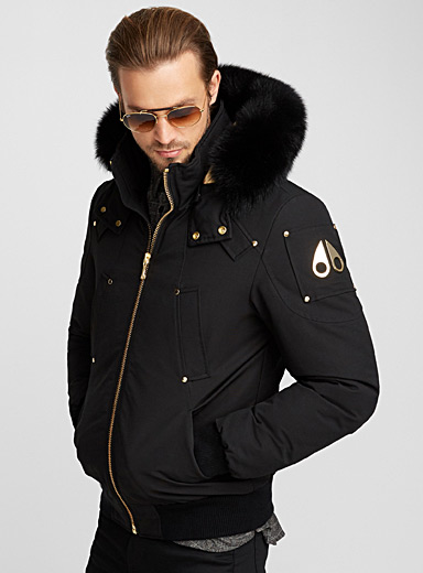 Gold accents Comeau bomber jacket