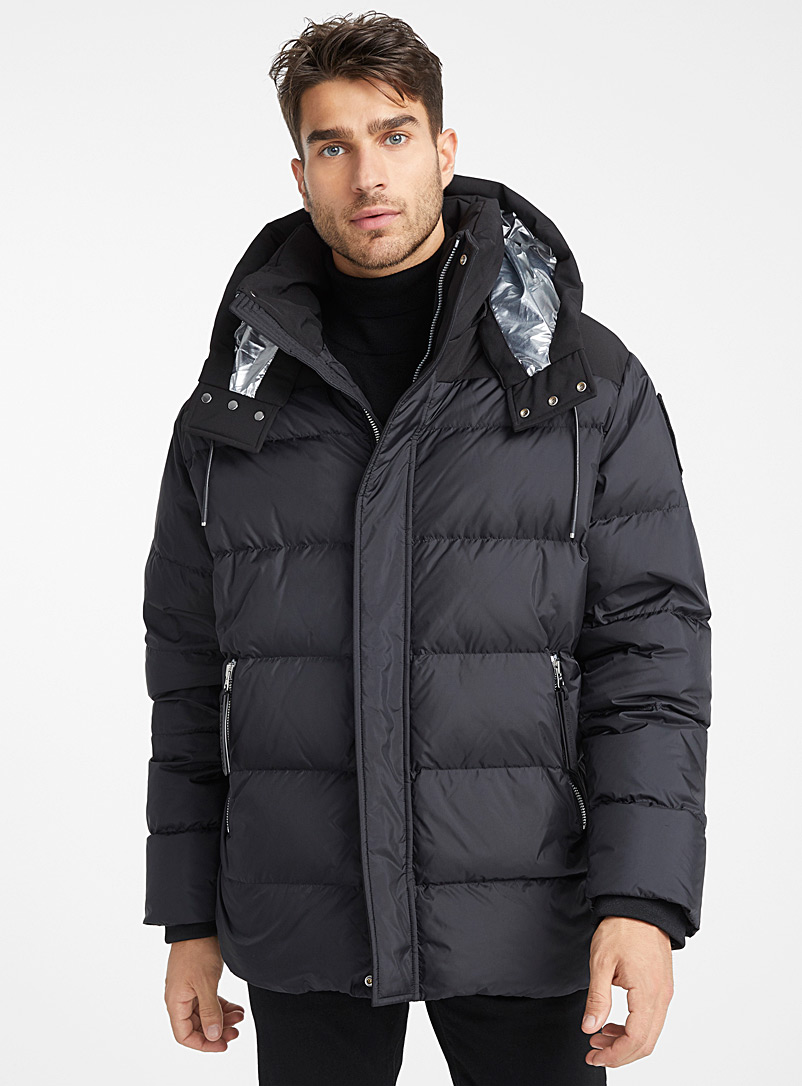 Moose Knuckles Black Niakwa loose puffer jacket for men