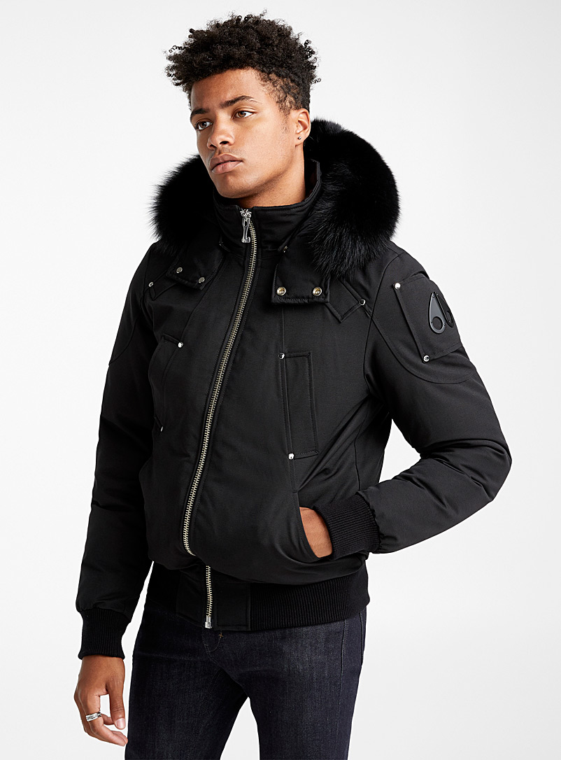 Ballistic aviator bomber jacket - Down Jackets - Black