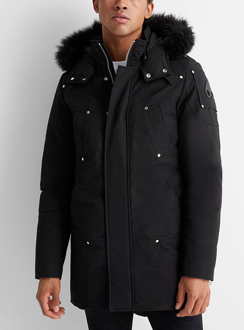 Moose Knuckles Black Stirling parka for men