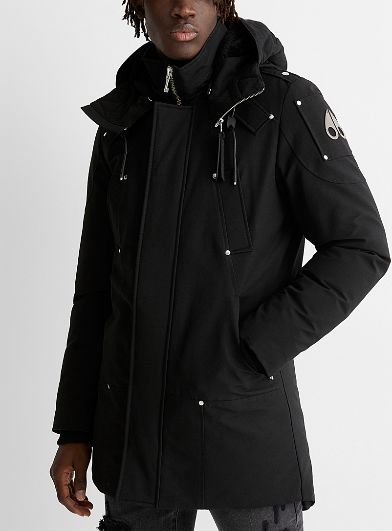 Moose Knuckles Black Saint-Ulric parka for men