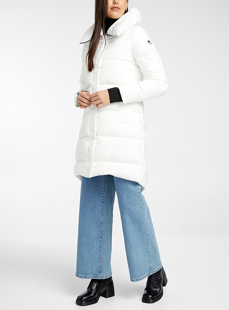 Moose Knuckles White Stardew puffer jacket for women