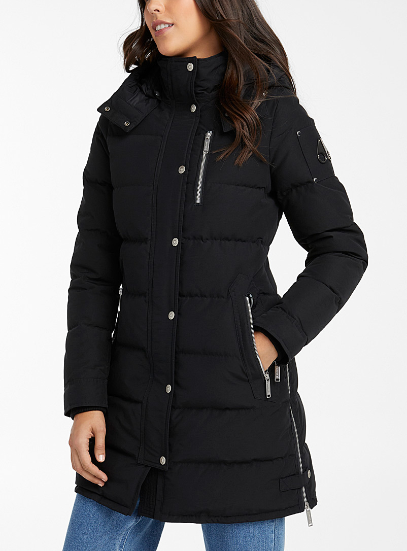 Moose Knuckles Black Trinity parka for women