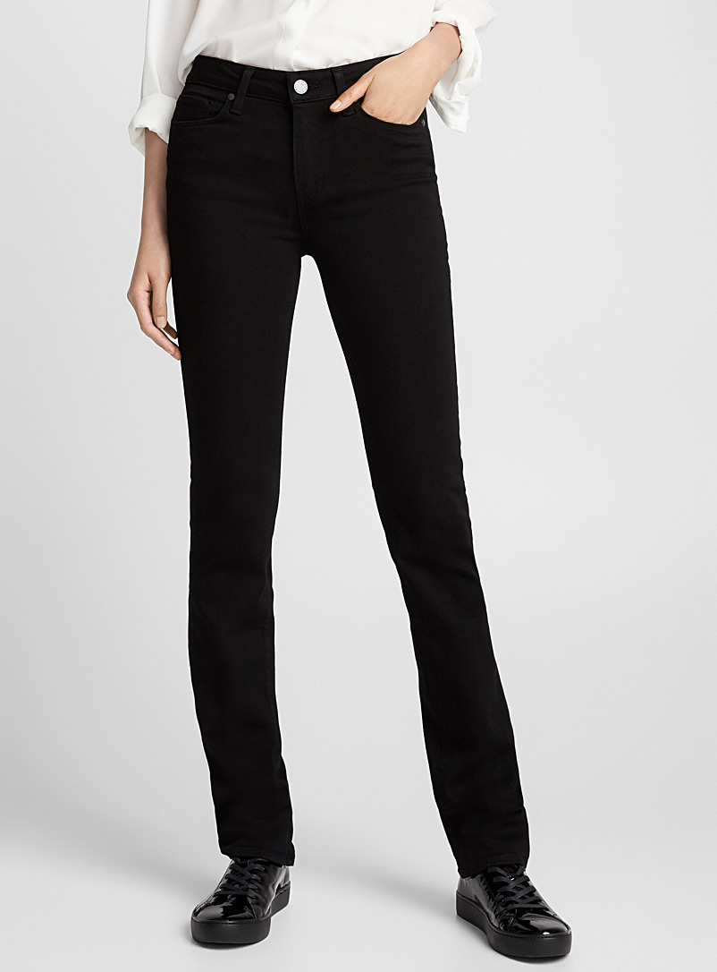 Paige Black Black Hoxton straight jean for women