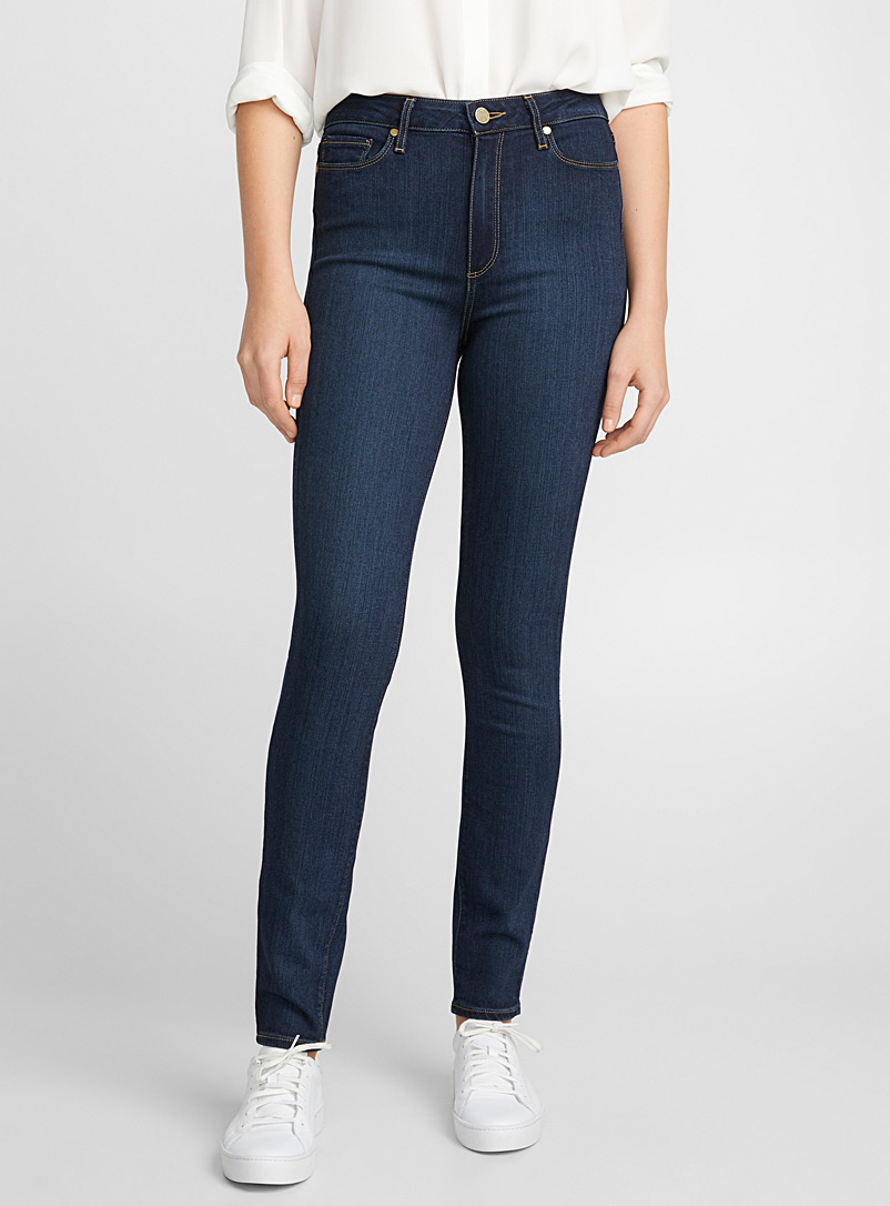 Paige Marine Blue Margot dark indigo skinny jean for women