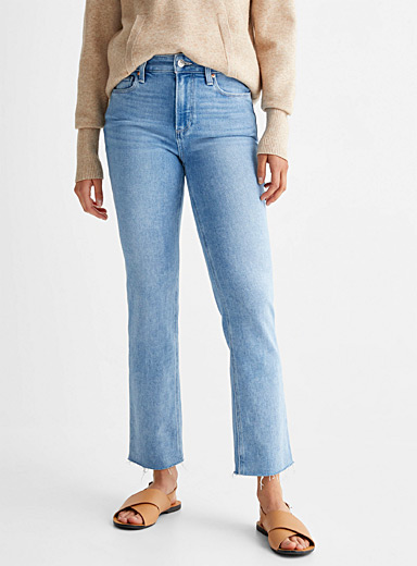 Cindy bleached ankle-length straight jean