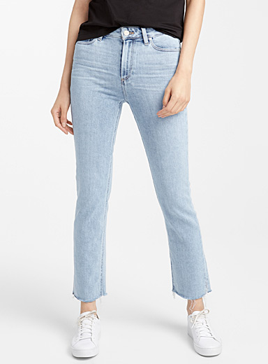Cindy bleached straight ankle jean