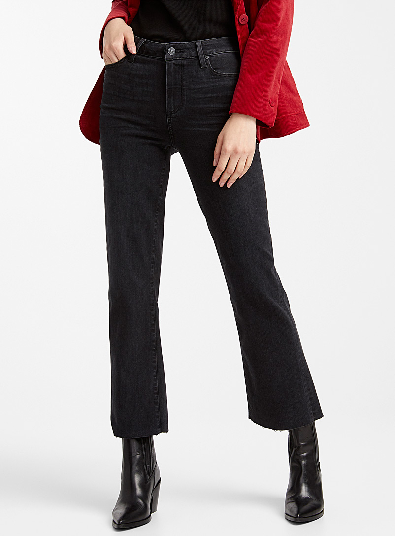 Atley flared cropped jean - Regular Waist - Black