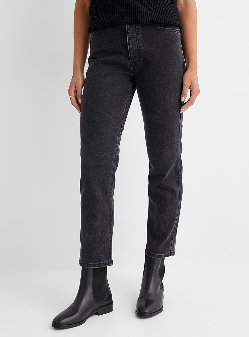 DU/ER Blue Straight-cut washed out stretch jeans for women